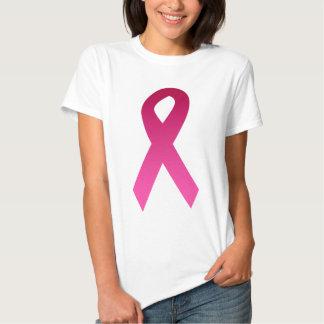 Cinta del rosa de la conciencia del cáncer de remera