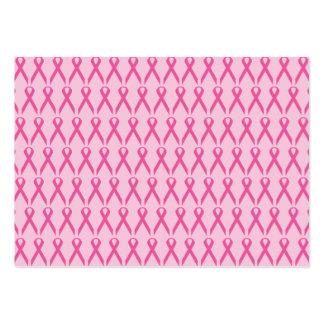 Cinta del rosa de la conciencia del cáncer de tarjetas de visita grandes