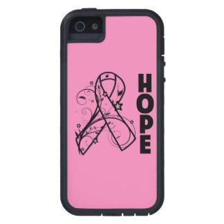 Cinta del rosa de la flor del cáncer de pecho de iPhone 5 funda