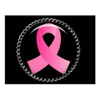 Cinta del rosa del cáncer de pecho del instinto postales