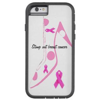 Cinta del rosa del cáncer de pecho funda tough xtreme iPhone 6