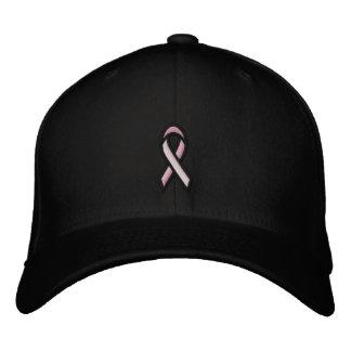 Cinta del rosa del cáncer de pecho gorras de beisbol bordadas