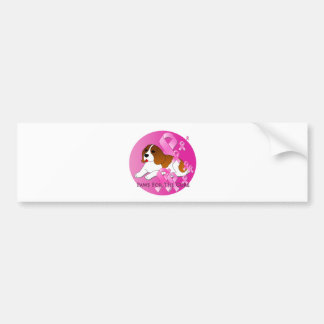Cinta del rosa del perro del beagle pegatina para auto