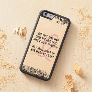 Cinta del rosa del verso de la biblia de la funda de iPhone 6 bumper arce