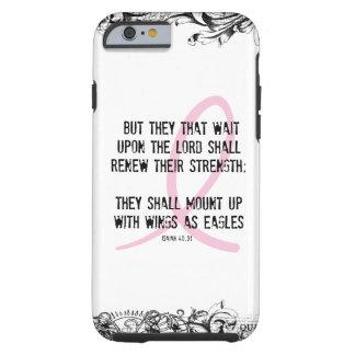 Cinta del rosa del verso de la biblia de la funda resistente iPhone 6