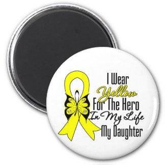Cinta del sarcoma mi héroe mi hija imán redondo 5 cm