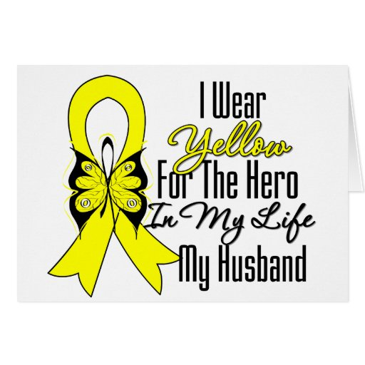 Cinta del sarcoma mi héroe mi marido tarjeta de felicitación