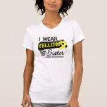 Cinta del sarcoma para mi hermana camisetas