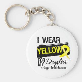 Cinta del sarcoma para mi hija llavero personalizado