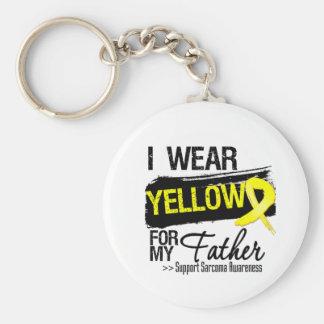 Cinta del sarcoma para mi padre llavero personalizado