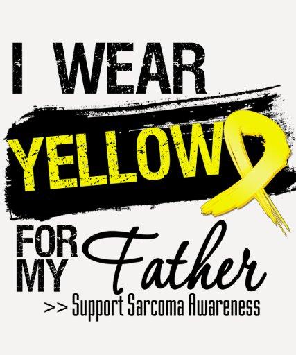 Cinta del sarcoma para mi padre playeras