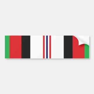 Cinta del servicio de Afganistán Pegatina De Parachoque