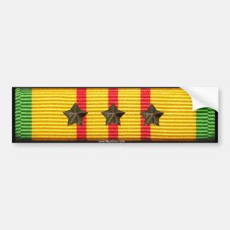 Cinta del servicio de Vietnam - 3 estrellas de la  Pegatina De Parachoque