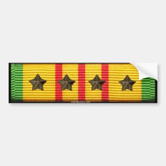 Cinta del servicio de Vietnam - 4 estrellas de la Etiqueta De Parachoque