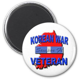 Cinta del servicio del veterano de Guerra de Corea Imán De Nevera