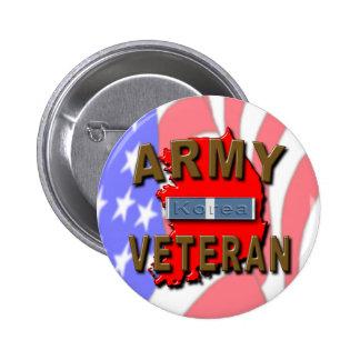 Cinta del servicio del veterano de Guerra de Corea Pins