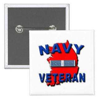 Cinta del servicio del veterano de Guerra de Corea Pin