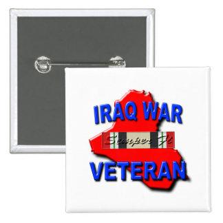 Cinta del servicio del veterano de guerra de Iraq Pin