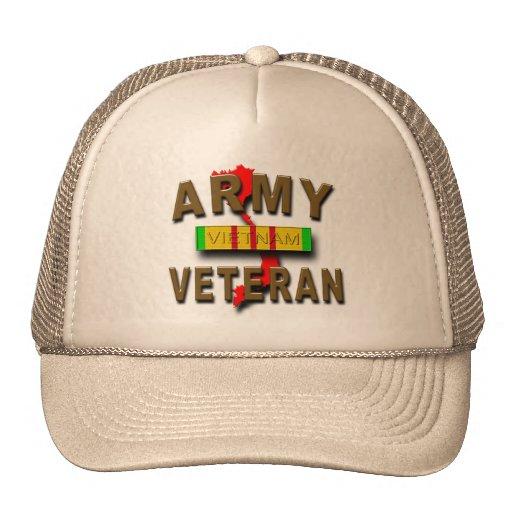 Cinta del servicio del veterano de guerra de Vietn Gorros Bordados