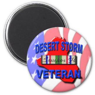 Cinta del servicio del veterano de tormenta de des iman