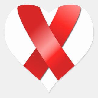 Cinta del SIDA Pegatina En Forma De Corazón