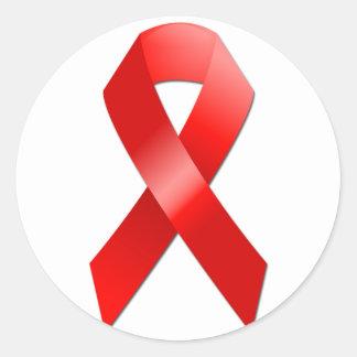 Cinta del SIDA Pegatina Redonda