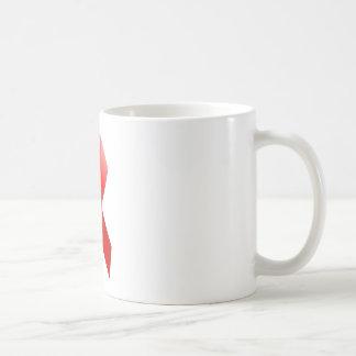 Cinta del SIDA Taza De Café