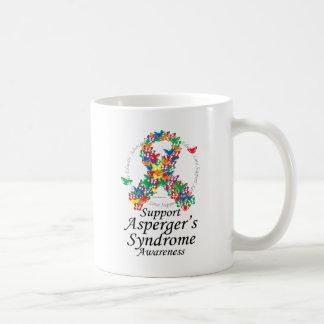 Cinta del síndrome de Asperger de mariposas Taza De Café