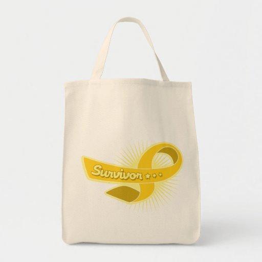 Cinta del superviviente del cáncer de la niñez bolsa de mano