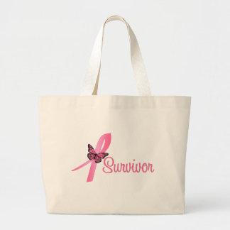 Cinta del superviviente del cáncer de pecho bolsa tela grande