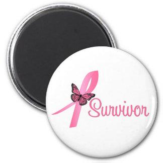 Cinta del superviviente del cáncer de pecho imán redondo 5 cm