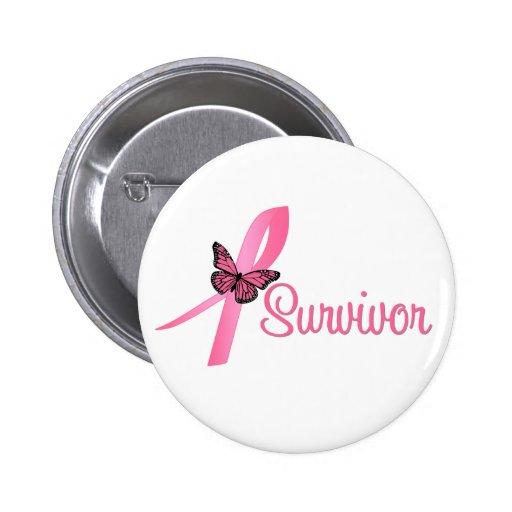 Cinta del superviviente del cáncer de pecho pin