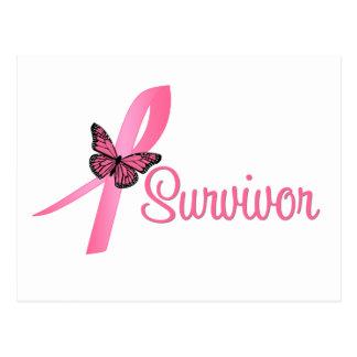 Cinta del superviviente del cáncer de pecho tarjeta postal