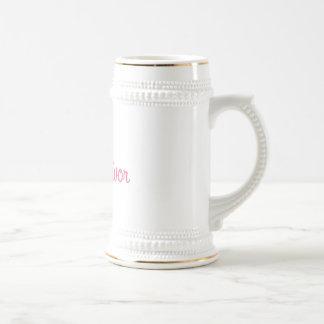 Cinta del superviviente del cáncer de pecho tazas de café