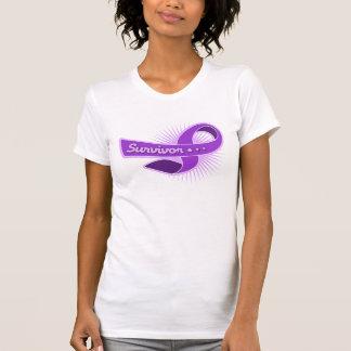 Cinta del superviviente del cáncer pancreático camiseta