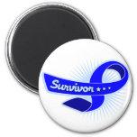 Cinta del superviviente del cáncer rectal imán de nevera