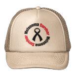 Cinta del superviviente del melanoma gorros