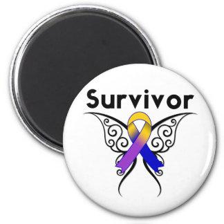 Cinta del tatuaje de la mariposa del cáncer de vej iman para frigorífico