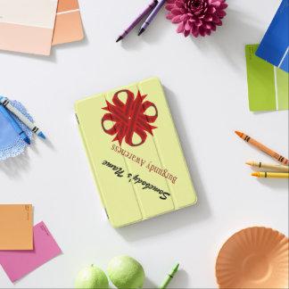 Cinta del trébol de Borgoña Cover De iPad Mini
