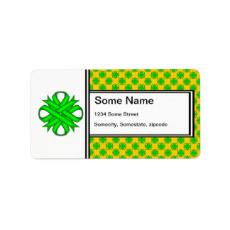 Cinta del trébol de la verde lima etiqueta de dirección