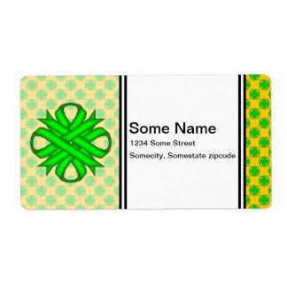 Cinta del trébol de la verde lima etiquetas de envío