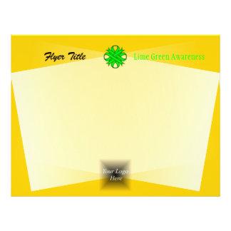 """Cinta del trébol de la verde lima folleto 8.5"""" x 11"""""""
