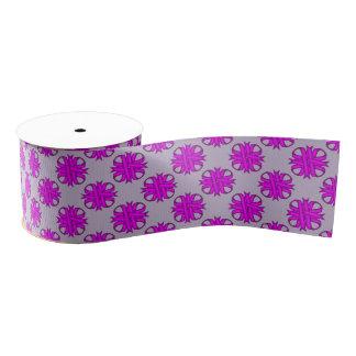 Cinta del trébol púrpura lazo de tela gruesa