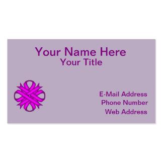 Cinta del trébol púrpura tarjetas de visita