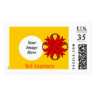Cinta del trébol rojo sellos postales
