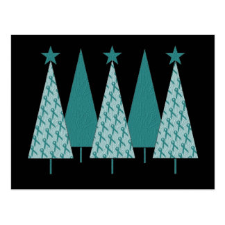 Cinta del trullo de los árboles de Christmast - cá Tarjetas Postales