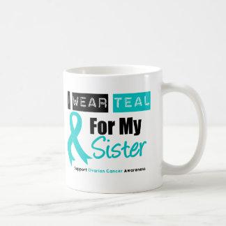 Cinta del trullo del cáncer ovárico para mi herman tazas de café
