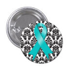 Cinta del trullo del damasco del cáncer ovárico pin
