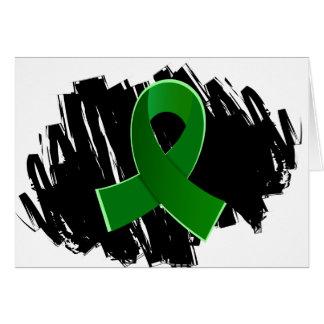 Cinta del verde de la enfermedad de riñón con gara felicitación