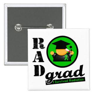 Cinta del verde del CÁNCER del RIÑÓN del graduado  Pin